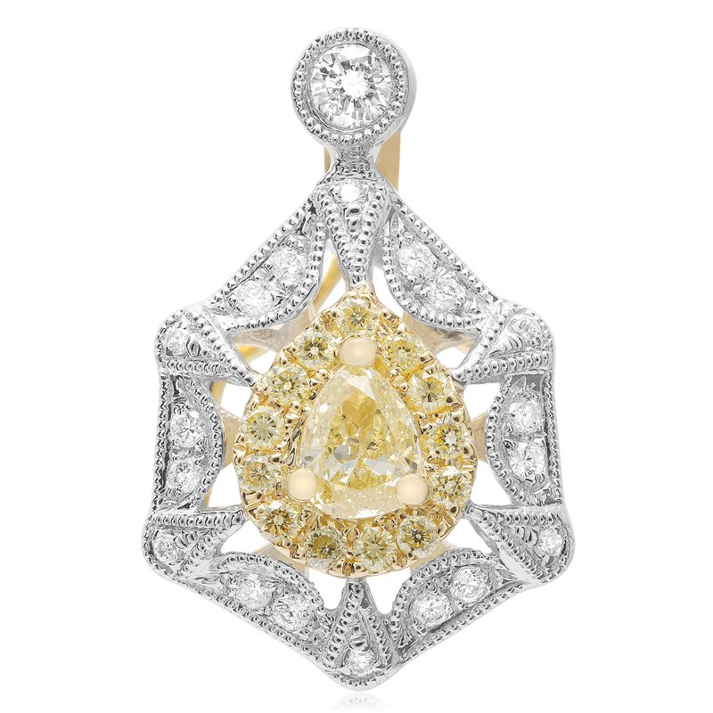 Roman & Jules Vintage Yellow Diamond Pendant