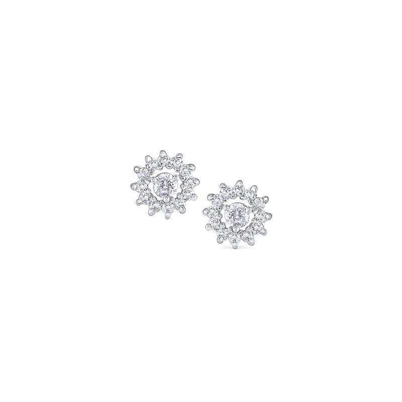 MAZZARESE Fashion 14K Diamond Starburst Stud Earrings