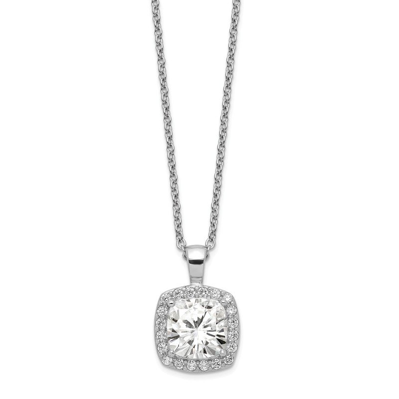Cheryl M Cheryl M Sterling Silver CZ Square 18 in Necklace