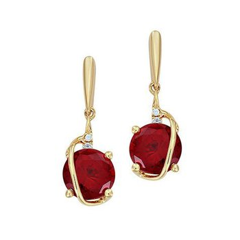 Ruby Earrings-CE4236YRU