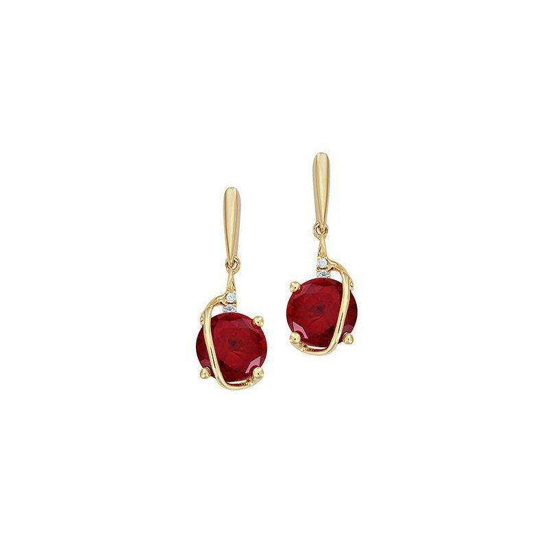 Chatham Ruby Earrings-CE4236YRU