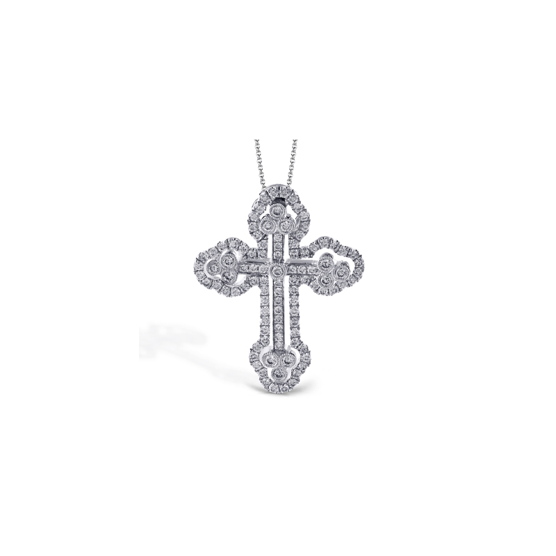 Simon G LP4075-S CROSS PENDANT