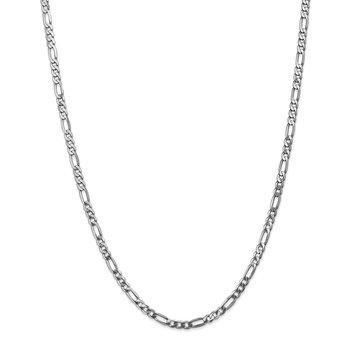 Leslie's 14K White Gold 4mm Flat Figaro Chain