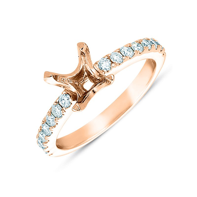 S. Kashi & Sons Bridal Rose Gold Semi Mounting