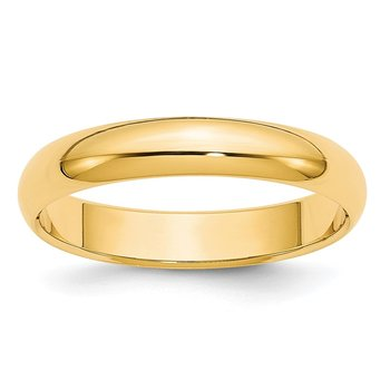 14k 4mm Half-Round Wedding Band