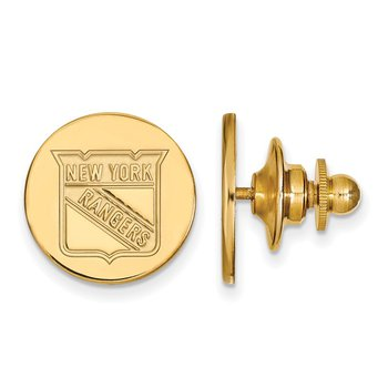 Gold-Plated Sterling Silver New York Rangers NHL Lapel Pin