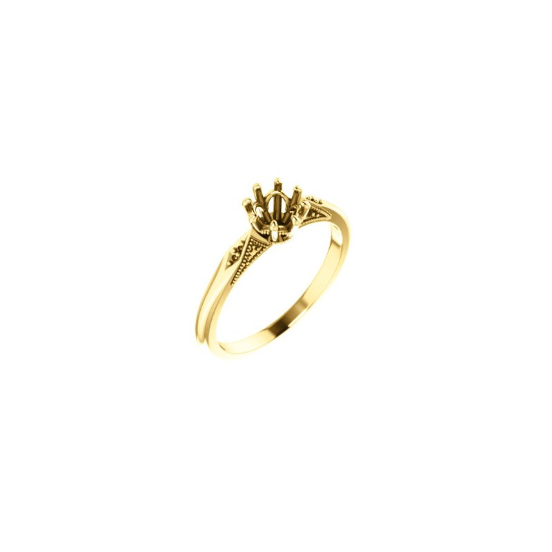 Stuller 18K Yellow 5.2 mm Round 8-Prong Engagement Ring Mounting