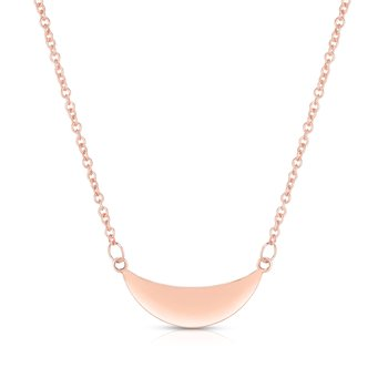 14K Gold Crescent Necklace