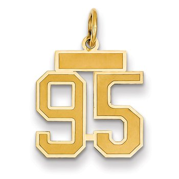 14k Small Satin Number 95 Charm