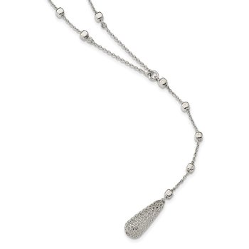 Sterling Silver Y-Shape with 3.5 inch Dangle Necklace