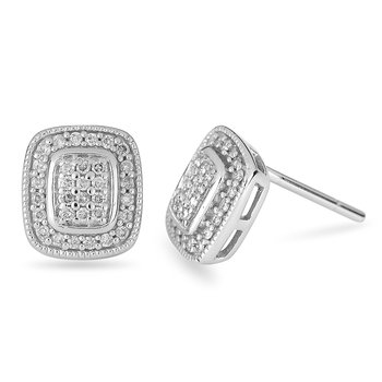 10K WG Diamond Pave Set Earring
