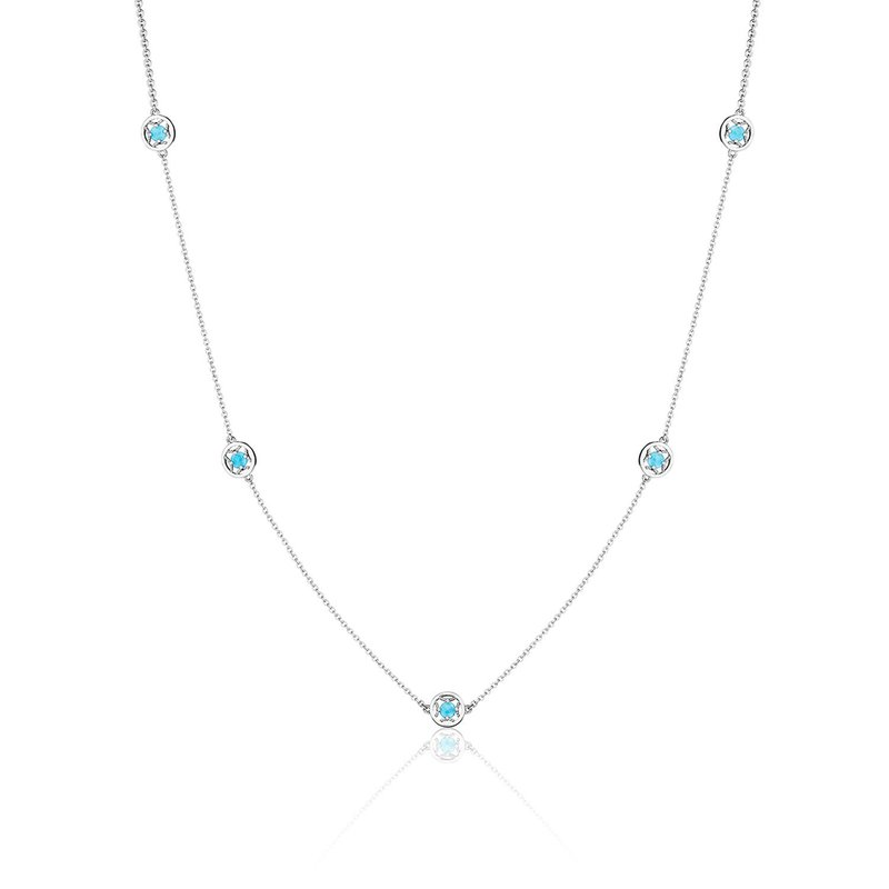 Tacori Fashion 5-Station Petite Gemstone Necklace with Turquoise