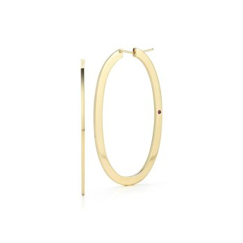 Large Oval Hoop Earrings &Ndash; 18K Yellow Gold