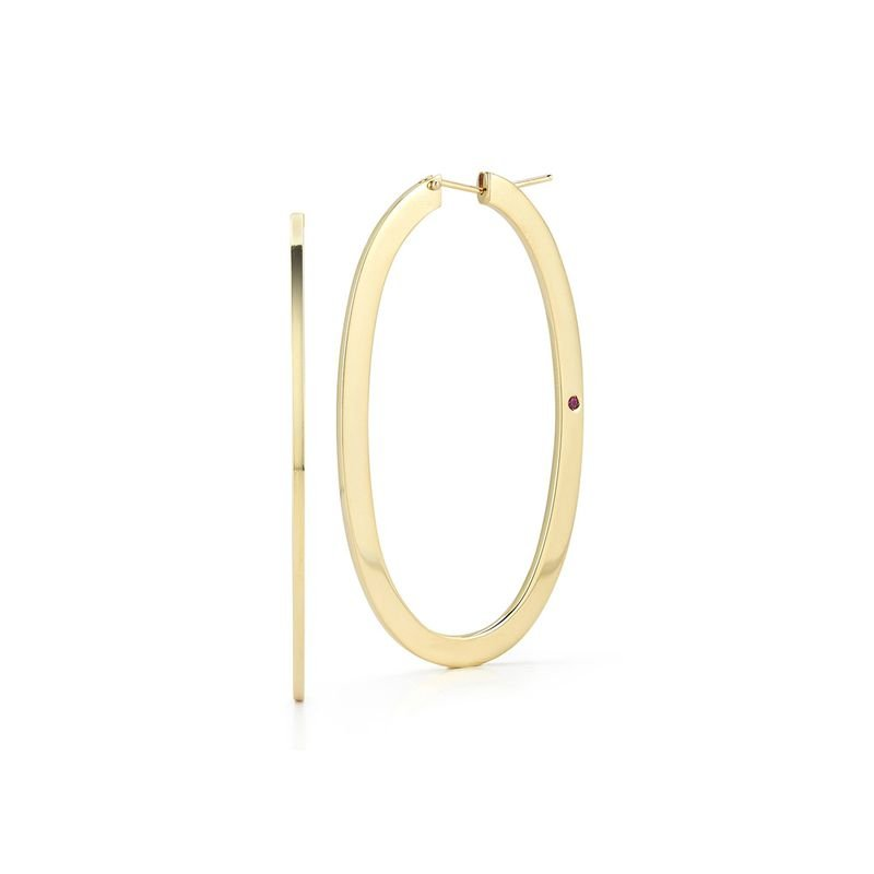 Roberto Coin Large Oval Hoop Earrings &Ndash; 18K Yellow Gold