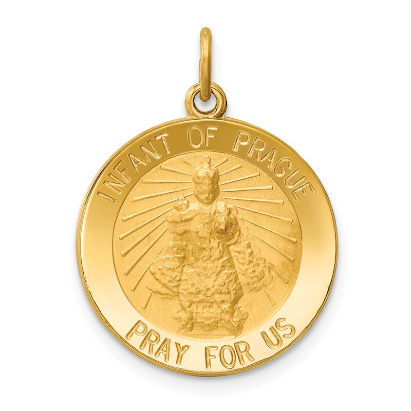 Quality Gold 14k Infant of Prague Medal Charm