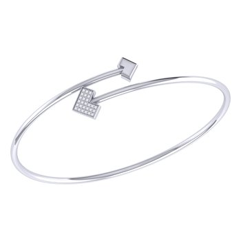 One Way Bangle in Sterling Silver