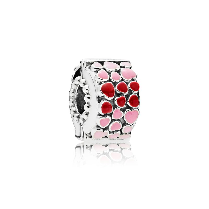 PANDORA Burst Of Love Clip, Mixed Enamel