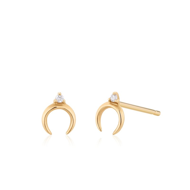 Aurelie Gi GLORIA | Diamond Arc Studs