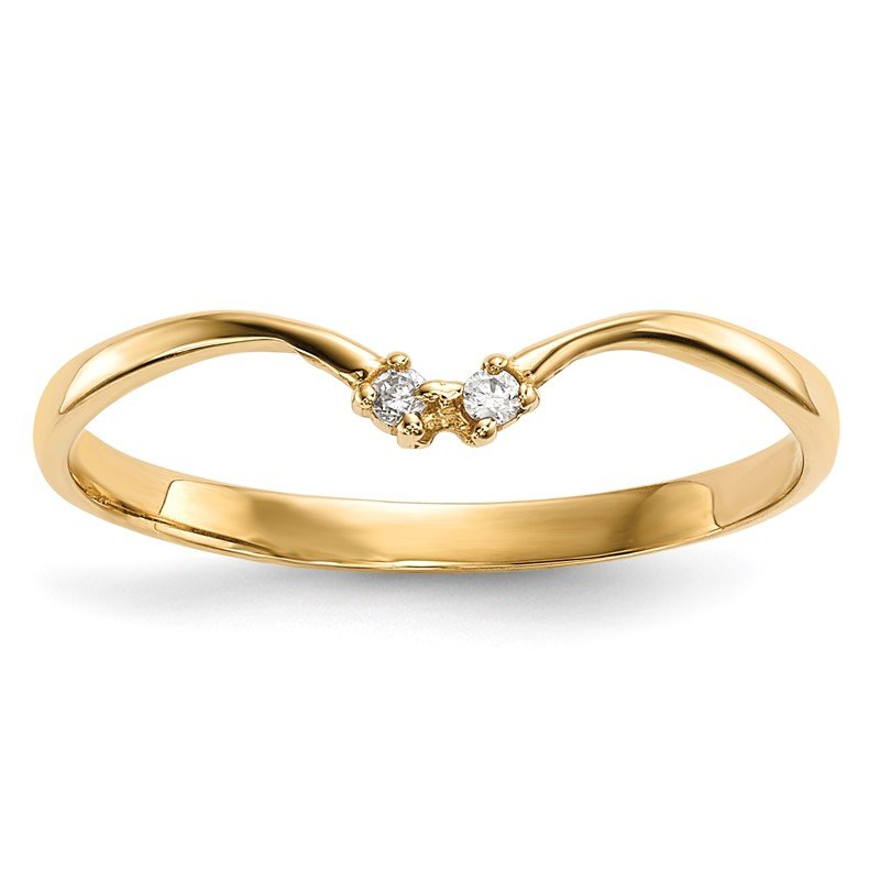 Quality Gold 14k 2-stone CZ Wrap Ring