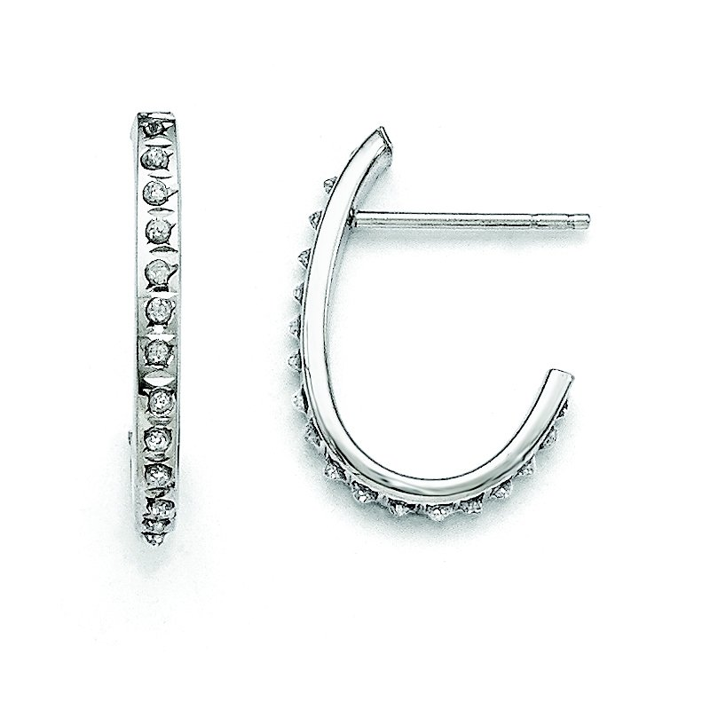 Arizona Diamond Center Collection 14k White Gold Diamond Fascination Hoop Earrings