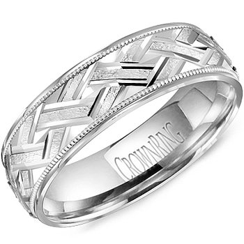 CrownRing Men's Wedding Band WB-8073