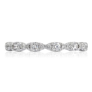 Petite Crescent Platinum Wedding Band