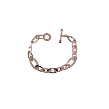 18KT GOLD MEDIUM OVAL LINK BRACELET