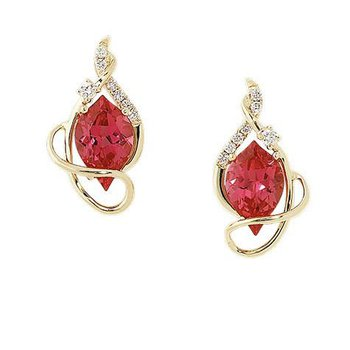 Padparadscha Earrings-CE3490YPD