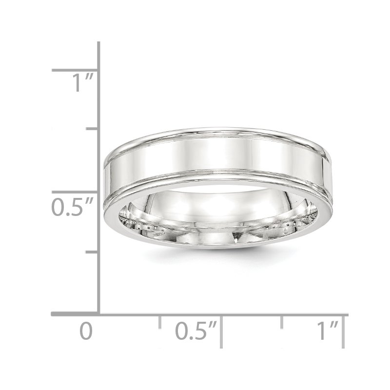 Quality Gold SS 6mm Polished Fancy Band Size 10