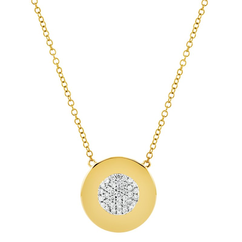 Phillips House Yellow gold diamond Infinity plate necklace