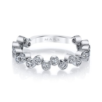MARS 26202WG Stackable Ring, 0.50 Ctw.