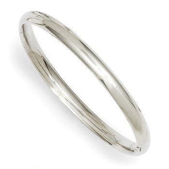 14k 3/16 White Gold Hinged Baby Bangle
