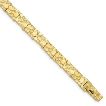 10k 7.0mm NUGGET Bracelet