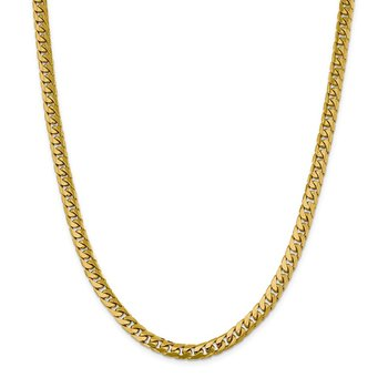 14k 6.25mm Solid Miami Cuban Chain