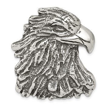 Sterling Silver Antiqued Eagle Head Pendant
