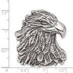 Quality Gold Sterling Silver Antiqued Eagle Head Pendant