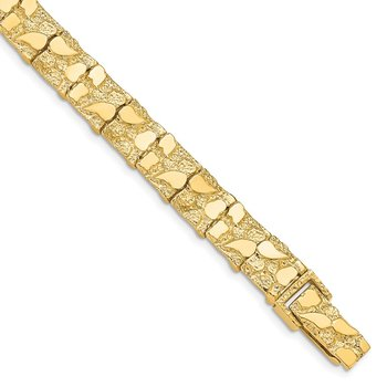 14k 9.50mm Nugget Bracelet