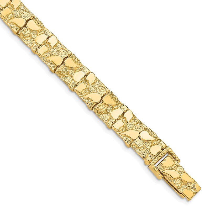 Quality Gold 14k 9.50mm Nugget Bracelet