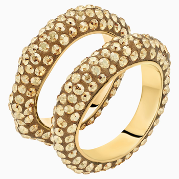 Tigris Ring Set, Gold tone, Gold-tone plated