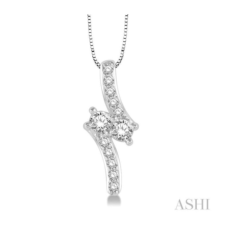 Barclay's Signature Collection 2stone diamond pendant