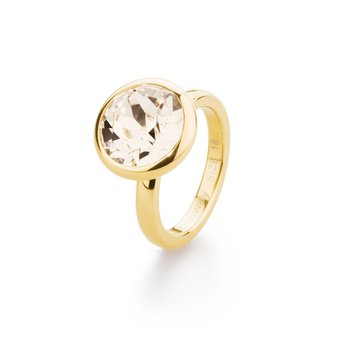 Cheerfulness - 316L stainless steel, gold pvd and silk Swarovski® Elements crystal