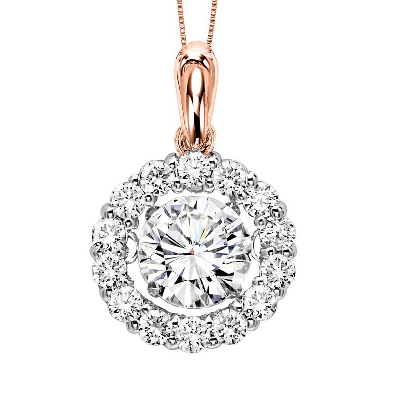 Rhythm of Love 14KP Diamond Rhythm Of Love Pendant 1/2 ctw