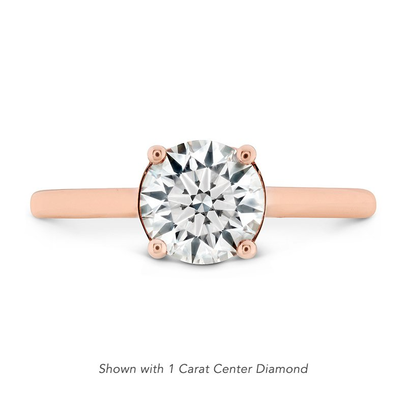 Hearts on Fire 0.01 ctw. Sloane Silhouette Engagement Ring