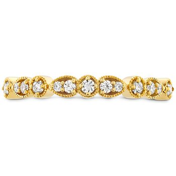 0.18 ctw. Isabelle Teardrop Milgrain Diamond Band