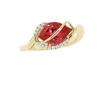 Padparadscha Ring-CR9558YPD