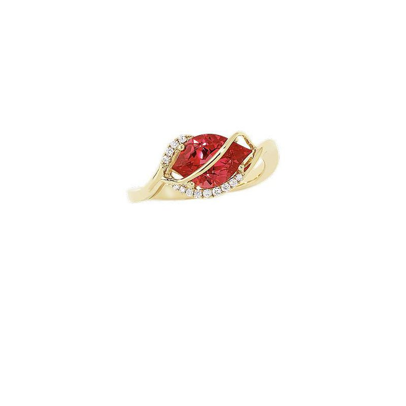 Chatham Padparadscha Ring-CR9558YPD