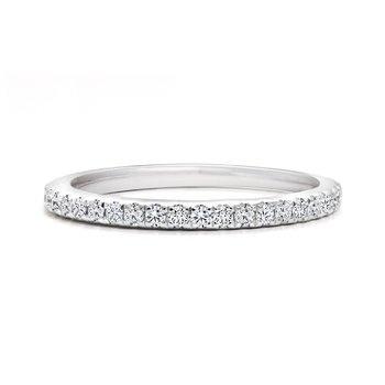 Classic Pavé Diamonds Wedding Band
