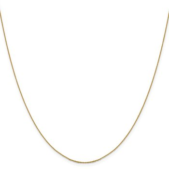 Leslie's 14K .80 mm Diamond-cut Cable Chain