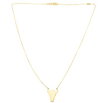 14K Gold Longhorn Necklace