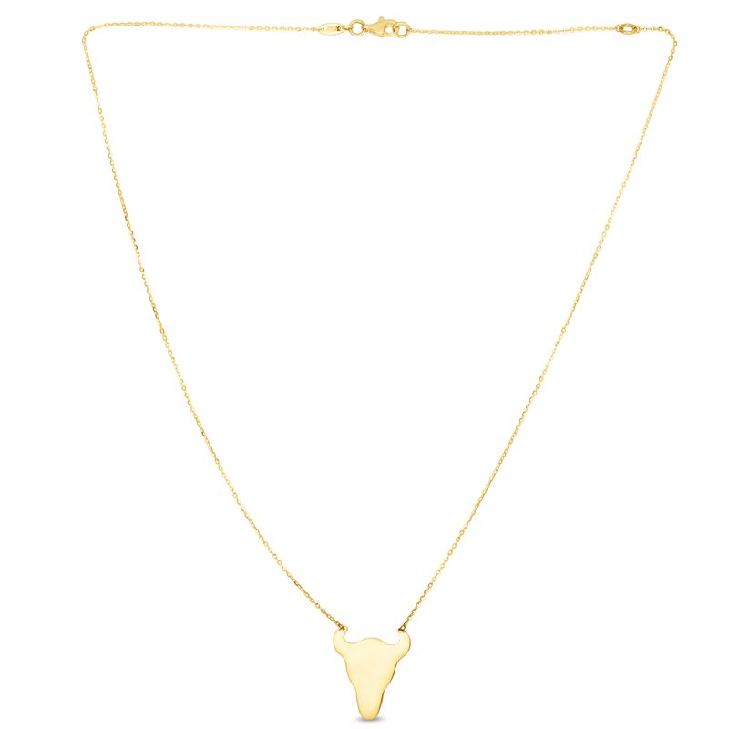 Royal Chain 14K Gold Longhorn Necklace